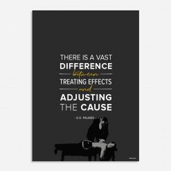 there is a vast difference between treating effects and adjusting the cause